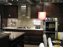 Kitchen With Dark Cabinets Kitchen Backsplash Tile With Dark Cabinets Pontifus