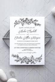 La Fleur Printable Wedding Invitation