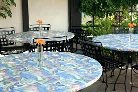 elastic patio table covers round