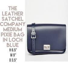 reduced the leather satchel company medium pixie bag in loch blue women s fashion bags wallets on carou