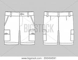 Shorts Design Template Technical Sketch Vector Photo Free Trial Bigstock