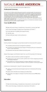 Cv Sample For Psychologist Filename My College Scout