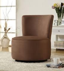 oxford creek contemporary dark brown microfiber round swivel chair home furniture living room