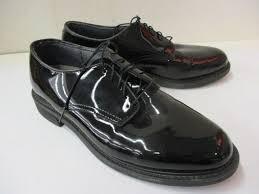 mens black patent leather style dress shoes no sz