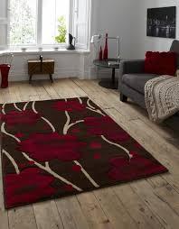 verona 216 brown red rug