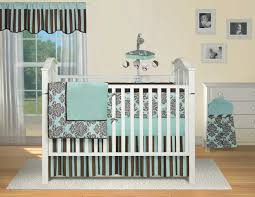 living attractive grey and white nursery bedding 15 interior blue black crib on wooden for design