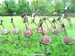 superb garden metal art garden rusty metal garden art uk