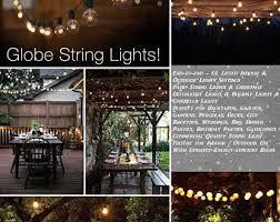 indoor string lighting. G40 String Lights 25 Globe Bulbs Indoor/Outdoor, Wedding Lights, Patio Indoor Lighting E