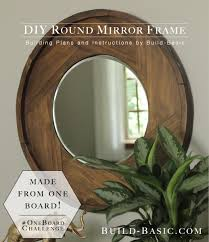 build a diy round mirror frame