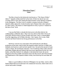 history baler reaction paper