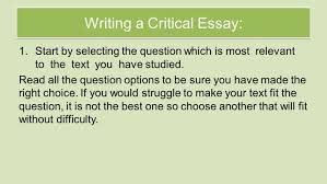 national critical essay revision review understanding the sl  national 5 critical essay revision review understanding the sl
