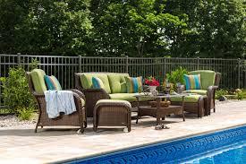 wicker patio furniture. Exellent Furniture Sawyer 6 Piece Resin Wicker Patio Furniture Conversation Set Cilantro  Green For
