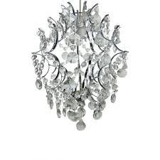 chandelier 1 light glass pendant in chrome frame easy fit 12 lampshade