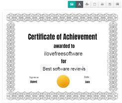 Online Certificates Free Create Certificates Online With These 5 Free Certificate Makers