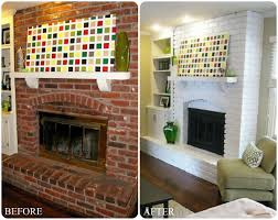 painted white brick fireplaceDIY Fireplace Makeovers Faux Mantels  Shelves