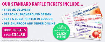 raffle tickets printing raffle ticket printing specialists amazing value quickprint uk