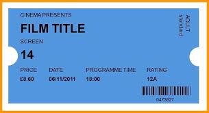 Fake Parking Tickets Printable Lo Movie Ticket Generator