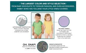Rabbit Skins 4400 Size Chart Rabbit Skins Infant 100 Cotton Jersey Lap Shoulder Short Sleeve Bodysuit