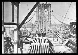 「the construction process of brooklyn bridge」の画像検索結果