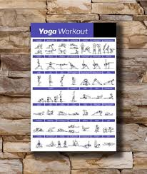 Yoga Chart Free Art Poster New New Yoga Workout Exercise Bodybuilding