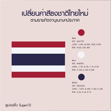 ค่าสีธงชาติไทยใหม่... - ซูเปอร์จิ๋ว Super10
