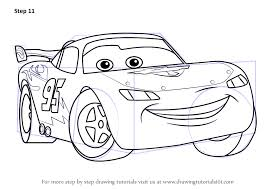 learn how to draw lightning mcqueen from cars cars step by step