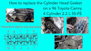 how to replace the cylinder head gasket on a 96 toyota camry 4 how to replace the cylinder head gasket on a 96 toyota camry 4 cylinder