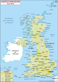 download map uk united kingdom  major tourist attractions maps