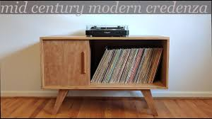 building a mid century modern style credenza record cabinet
