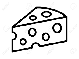 cheese block clipart. Unique Block Swiss Cheese Or Emmental Line Art Icon For Food Apps And Websites  Stock Vector  With Cheese Block Clipart S