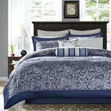 navy blue bed in a bag queen cal king bed bag navy blue silver paisley comforter sheet set bedding navy blue bed in a bag king