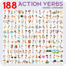 Verb Action Action Verbs Flashcards