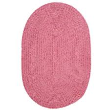 home decorators collection dover chenille pink 9 ft x 12 ft oval braided area