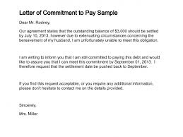 Sample Agreement To Pay Debt Letter Of Commitment To Pay Sample Lettering Letter Of
