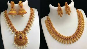 Gold Beautiful Necklace Design Beautiful Necklace Designs For Bride Gold Plated Necklace Designs Collections Necklace Set