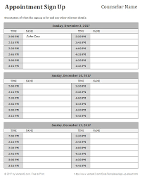 volunteer schedule template appointment schedule sign up template for volunteer sheet volunteer