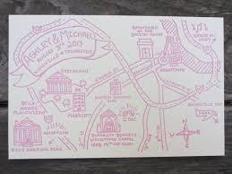 Seaside Press Letterpress Wedding Map Nashville