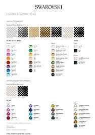 Swarovski Crystal Color Chart Actual Rhinestones Meticulous Swarovski Crystal Colour Chart Pdf Swarovski