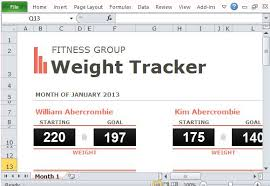 Visual Weight Loss Chart Group Weight Loss Tracker Template For Excel