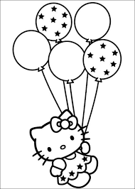 Hello kitty heart coloring pages contains image of a very famous disney character hello kitty. 15 Big Balloon Love Heart Hello Kitty Coloring Pages