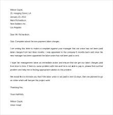 Formal Complaint Letters Letter Format Sample Template Monster Logo