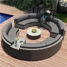 circle outdoor garden sofa set