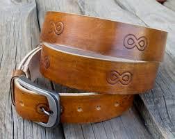 infinity belt. men\u0027s leather belt, light brown infinity cow rustic hand dyed belt e