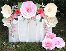 How To Make Paper Flower Backdrop Paper Flower Rose Backdrop Diy Paper Flower Patterns And Etsy
