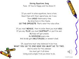 solving equations tune if you re happy and you know it
