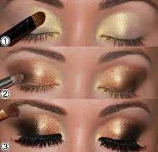 smoky eyes makeup tutorials golden eyes