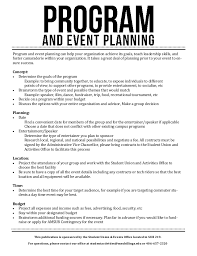 Event Programs Program And Event Planning