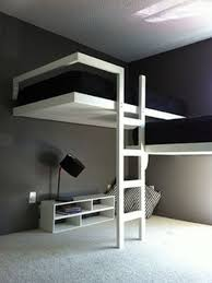 The Aesthetic And Grey Sensation With Black Bed Cover And White Bed Frame  For A Decoration Really Cool Bunk Beds