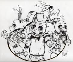 Small Picture Five Nights At Freddy S Coloring Pages Black And White Coloring