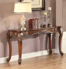 cherry sofa table. Logan Warm Cherry Sofa Table With Marble Inset